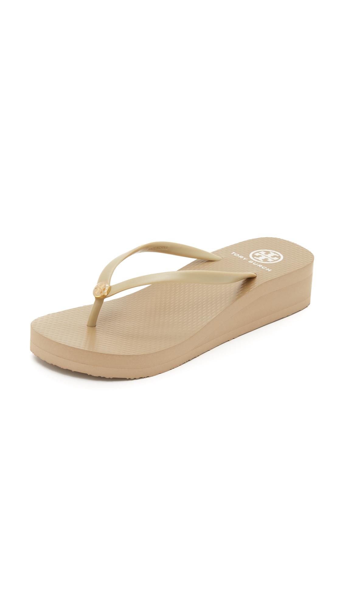 65464bec6e22 Tory Burch Cutout Wedge Flip Flops