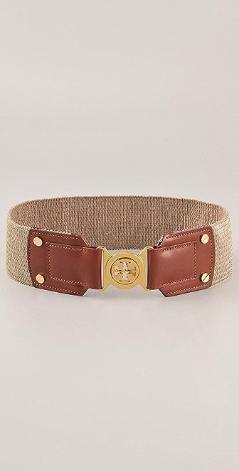 Tory Burch Metallic Logo Waist Belt