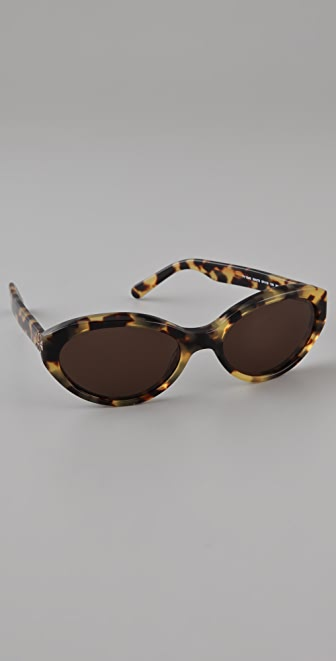 Tory Burch Rounded Slim Sunglasses