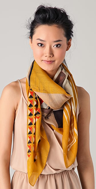 Tory Burch Collage Print Scarf