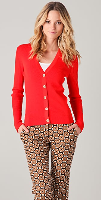Tory Burch Shrunken Simone Cardigan