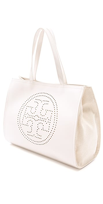 Tory Burch Perf Logo Small Tote