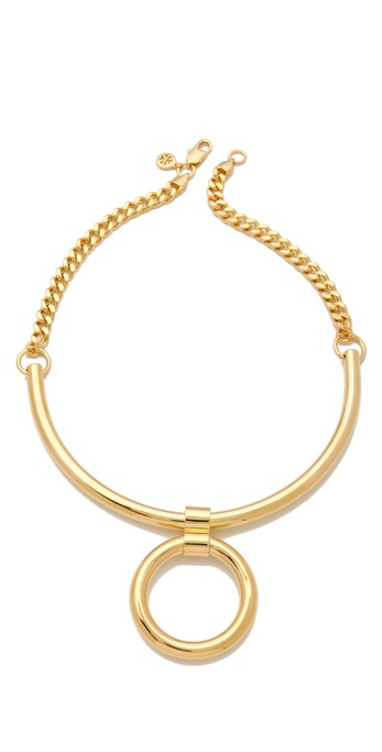 Tory Burch Circle Pendant Necklace