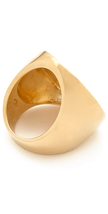 Tory Burch Striped Logo Ring