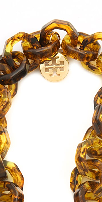 Tory Burch Octagon Resin Necklace