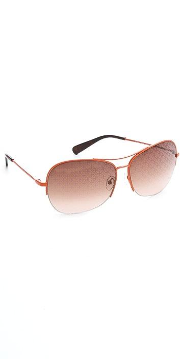 Tory Burch Square Aviator Sunglasses