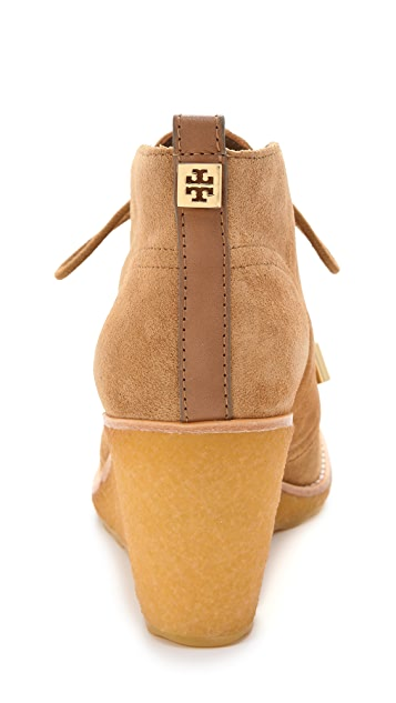 Tory Burch Vikki Suede Wedge Booties