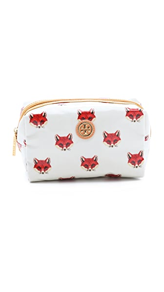 Tory Burch Foxy Printed Brigitte Cosmetic Case