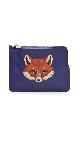 Tory Burch Vachetta Large Fox Pouch