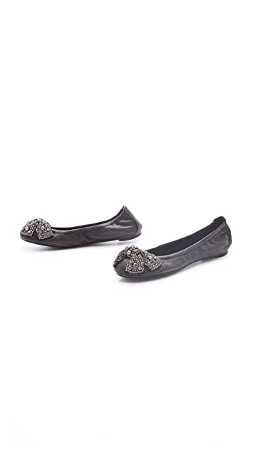 Tory Burch Eddie Flats with Detailed Bow