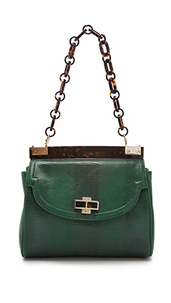 Tory Burch Lizard Medium Resin Top Bag