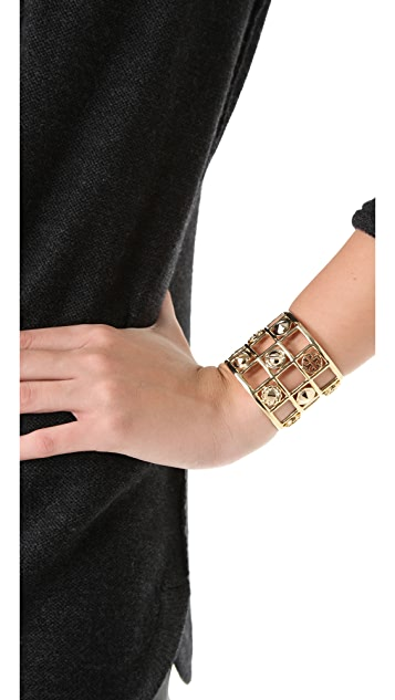 Tory Burch Labyrinth Frame Cuff