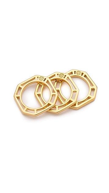 Tory Burch Audrina Stacking Ring Set