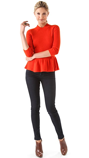Tory Burch Madeline Peplum Sweater