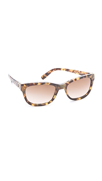 Tory Burch Plastic Square Sunglasses