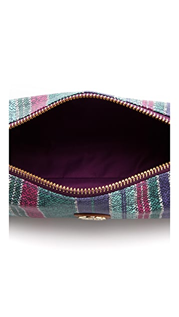 Tory Burch Baja Stripe Cosmetic Case