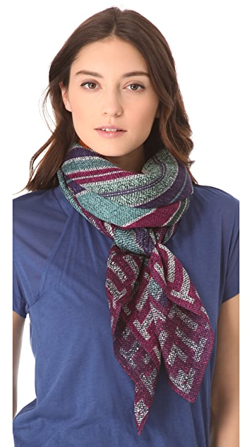 Tory Burch Baja Square Stripe Scarf