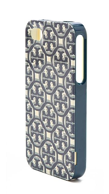 Tory Burch Logo Lattice Hardshell iPhone Case