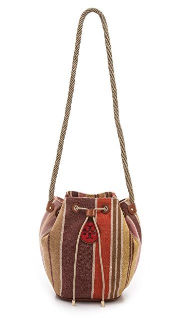 Tory Burch Baja Stripe Drawstring Bag