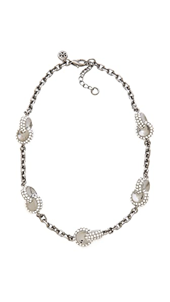 Tory Burch Interlock Circle Necklace