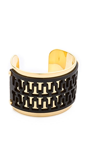 Tory Burch Leather Overlay Cuff
