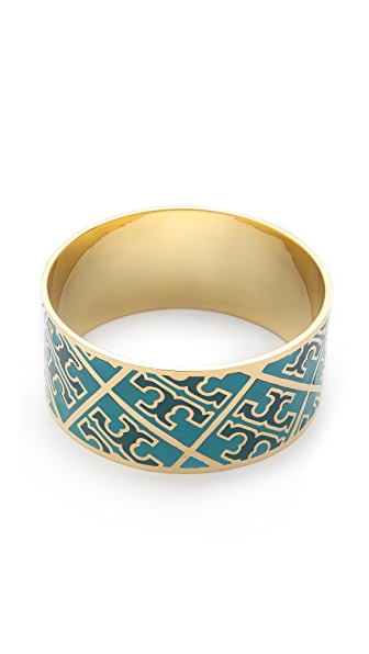 Tory Burch Enamel T Pattern Bangle