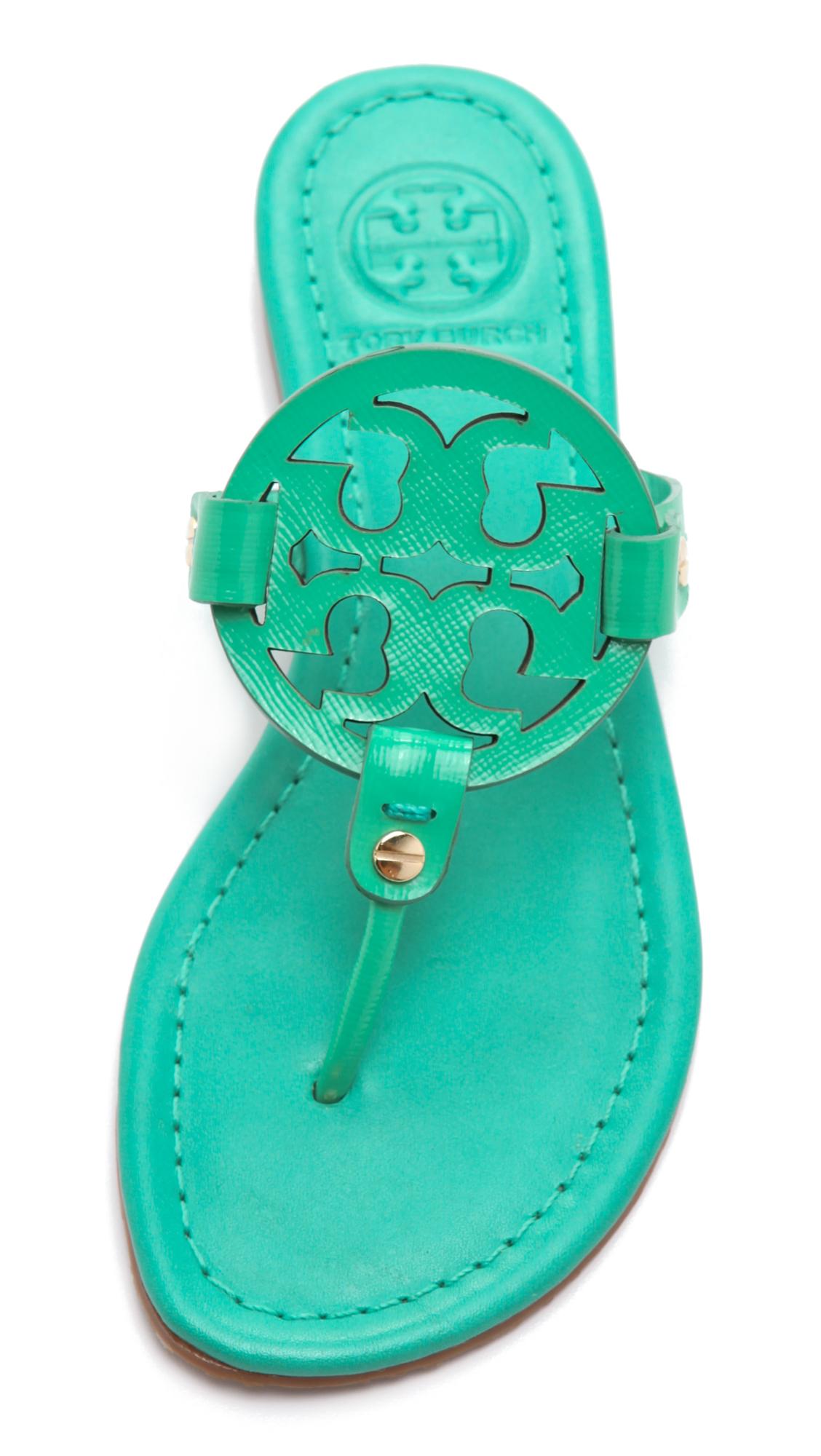 7d58186399b4 Tory Burch Miller Patent Sandals