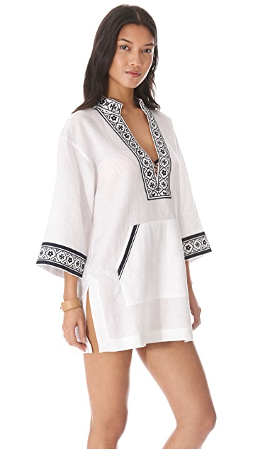 Tory Burch Tory Linen Tunic Cover Up