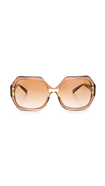 Tory Burch Oversized Glam Sunglasses