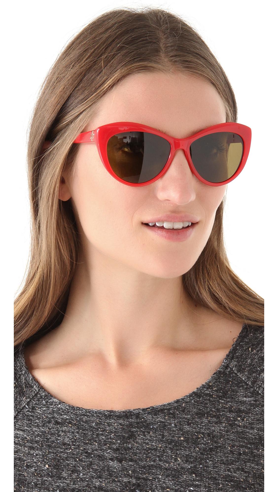 475a3d3cbb1 Tory Burch Oversized Cat Eye Sunglasses