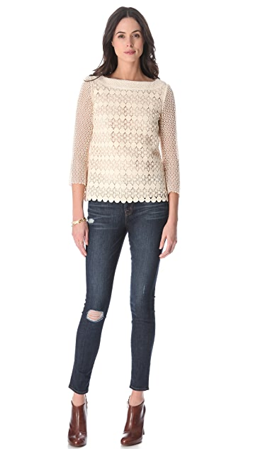 Tory Burch Charlotte Lace Top