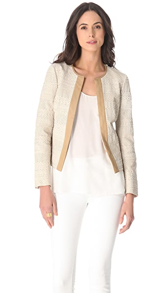 Tory Burch Autumn Perforated Leather Jacket