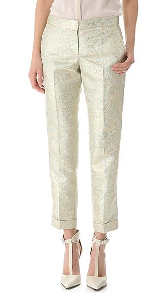 Tory Burch Lola Metallic Brocade Pants
