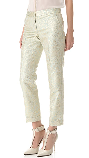 Tory Burch Lola Metallic Brocade Pants