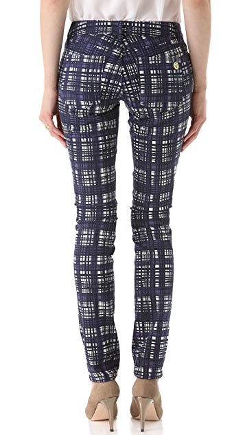 Tory Burch Tab Front Skinny Pants