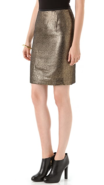 Tory Burch Brandy Metallic Skirt