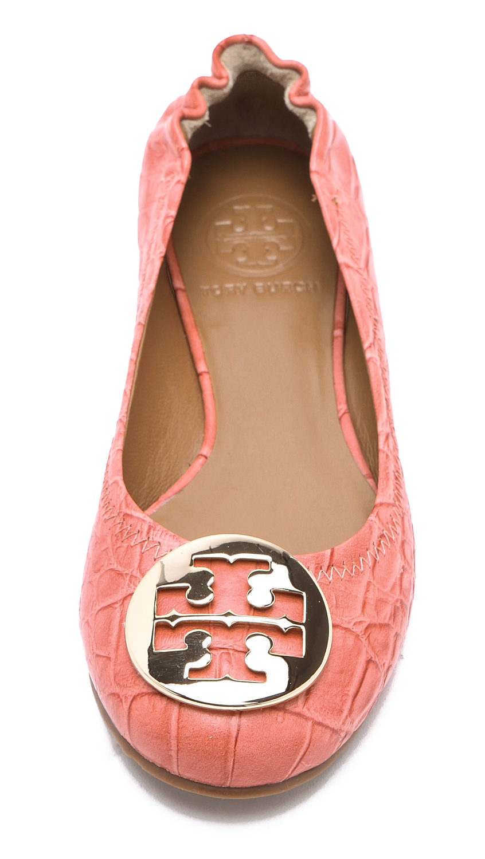 55270dd44392 Tory Burch Reva Croc Ballet Flats