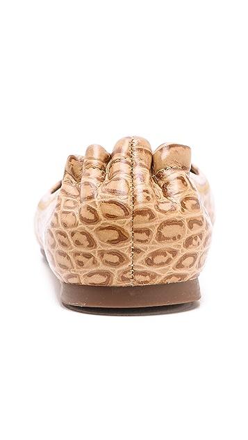 Tory Burch Reva Croc Ballet Flats