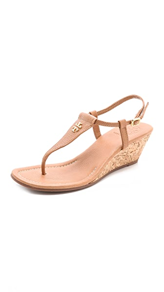 Tory Burch Britton Wedge Thong Sandals