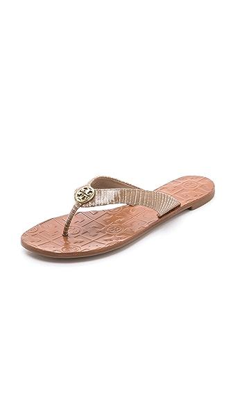 Tory Burch Thora Lizard Print Sandals