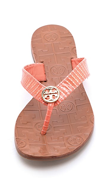 Tory Burch Thora Lizard Print Sandals