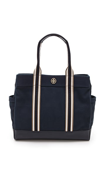 Tory Burch Striped Webbing Tote