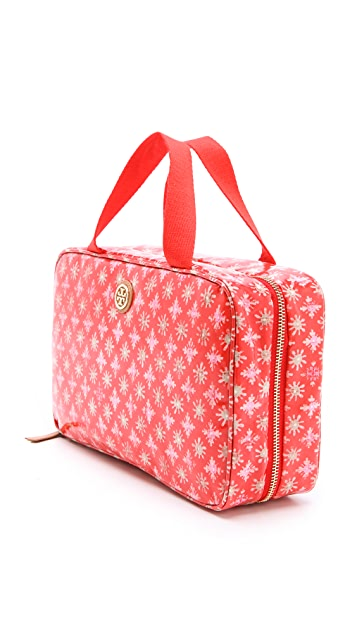 Tory Burch Hanging Zip Cosmetic Case
