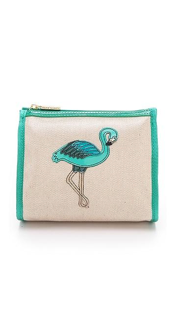 Tory Burch Flamingo Taryn Cosmetic Case