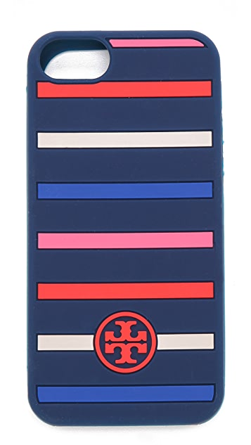 Tory Burch Classic Stripe Silicone iPhone Case