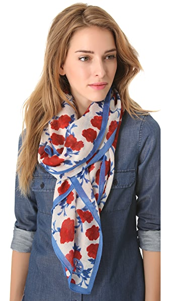 Tory Burch Lealan Mix Print Scarf