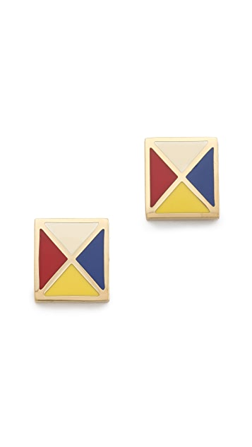 Tory Burch Ahoy Multi Flag Earrings