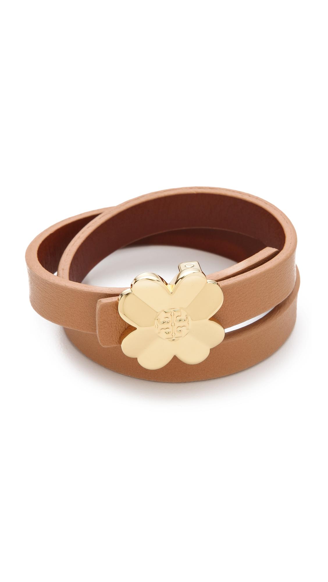 magasins populaires la moitié commercialisable Reversible Leather Shawn Bracelet