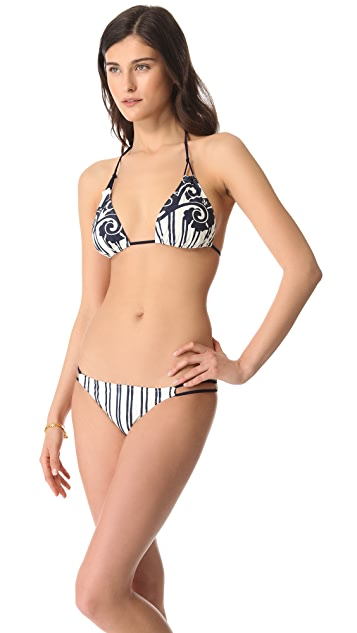 Tory Burch Creta Triangle Bikini Top