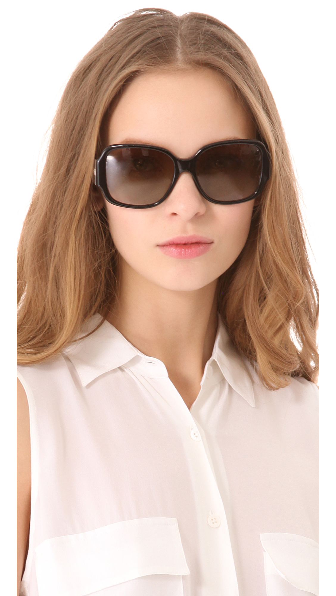 81dd41ee215d Tory Burch Polarized Logo Sunglasses   SHOPBOP